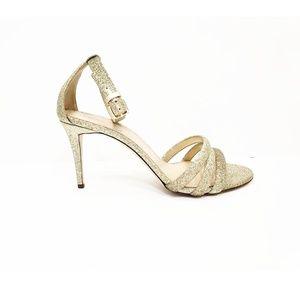 J. Crew Glitter Ankle Strap Sandal | Size: 8.5